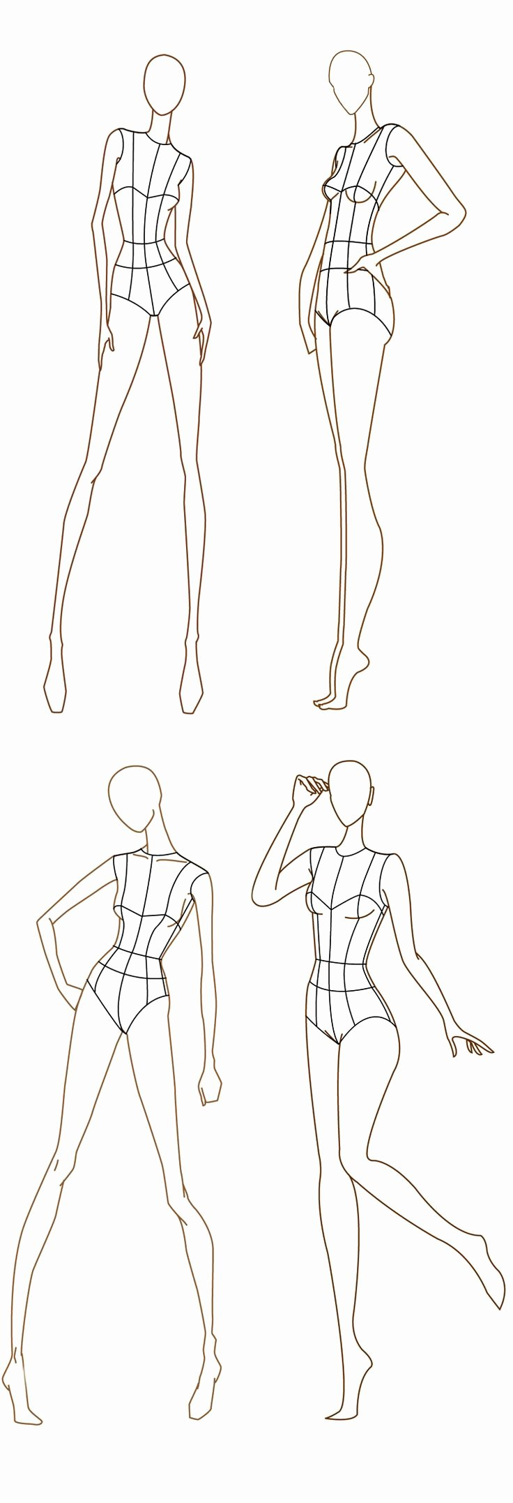 Blank Female Body Template Unique 1000 Images About Fashion Illustration Templates On