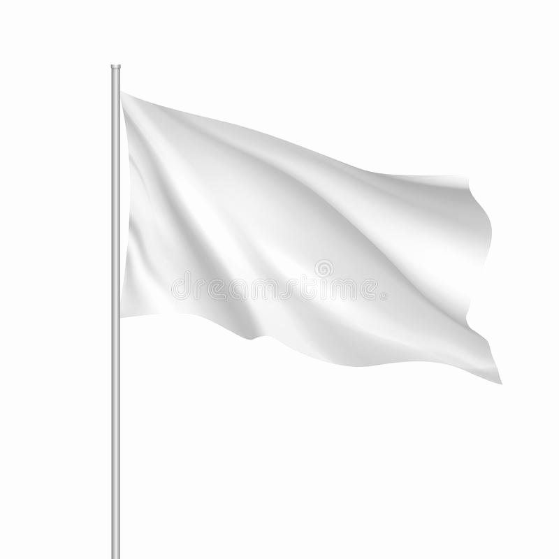 Blank Flag Template Beautiful Vector White Waving Flag Template Stock Vector
