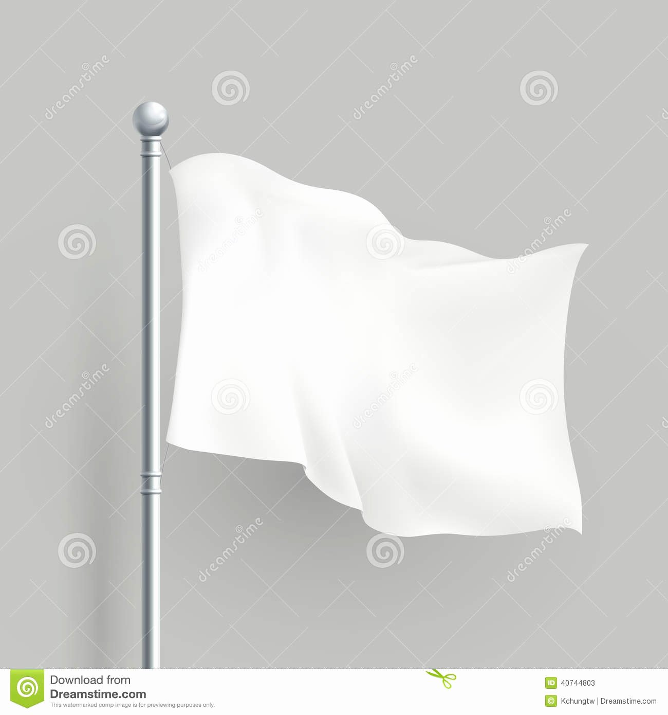Blank Flag Template Fresh 3d Vector White Flag Blank Template Stock Vector