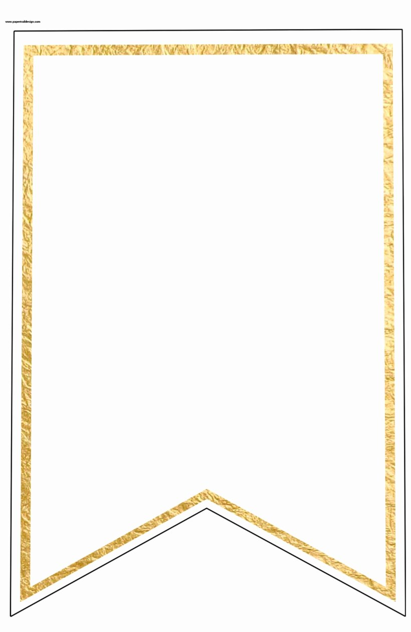 Blank Flag Template Fresh Gold Pennant Banner Blank Template Flag Banner Template
