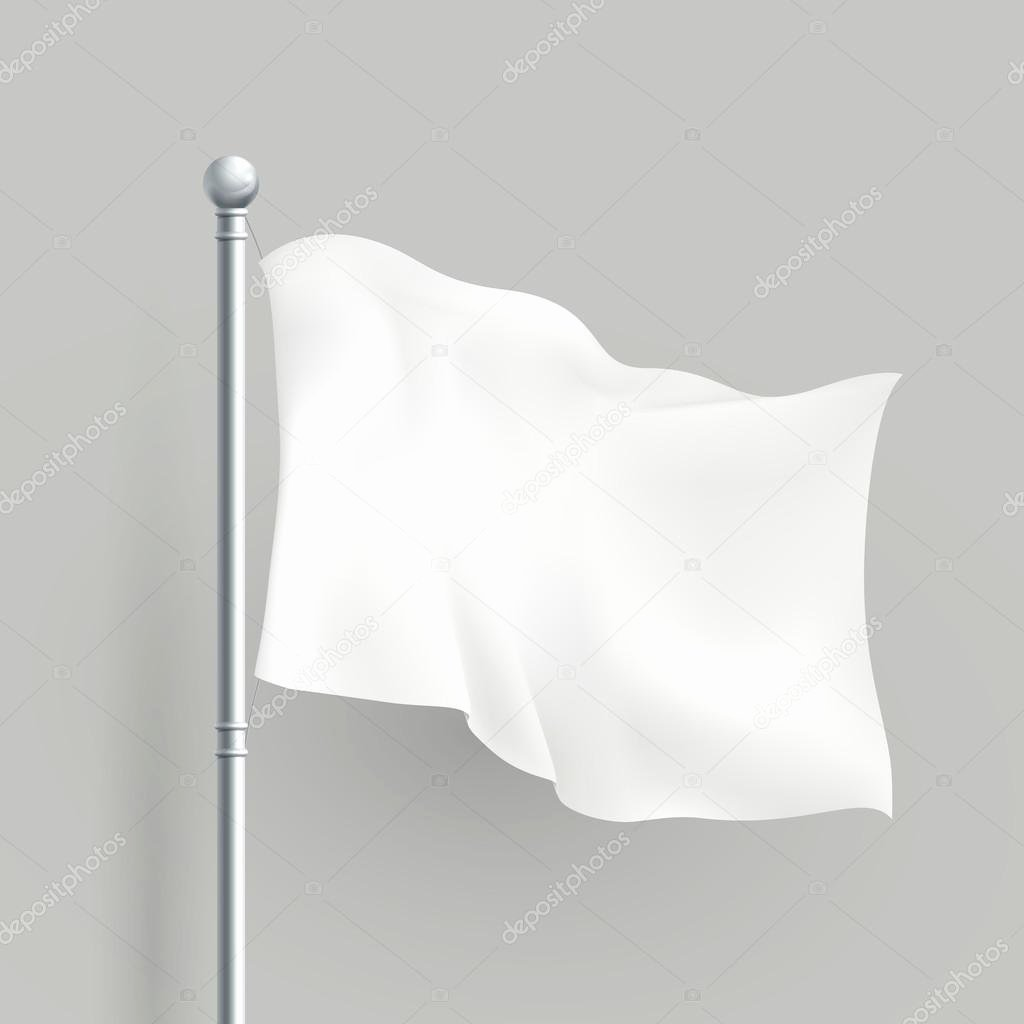 Blank Flag Template Lovely 3d Vector White Flag Blank Template — Stock Vector