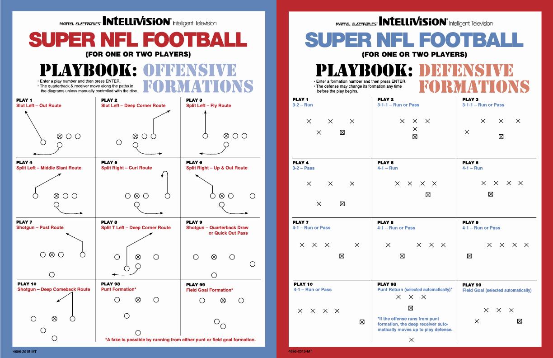 Blank Football Playbook Template Luxury Football formations Template Militaryalicious