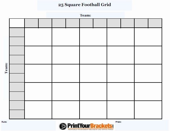Blank Football Pool Sheets Beautiful Blank Football Squares Template Invitation Template