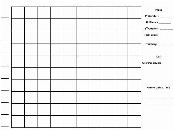 Blank Football Pool Sheets Elegant 19 Football Pool Templates Word Excel Pdf