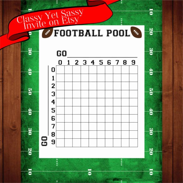 Blank Football Pool Sheets Unique 19 Football Pool Templates Word Excel Pdf