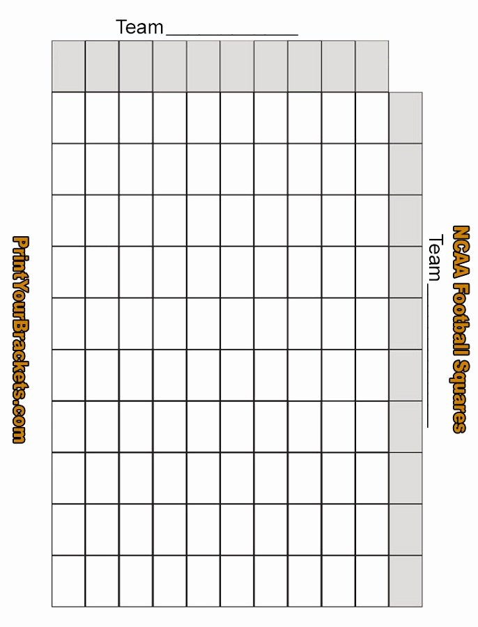 Blank Football Pool Sheets Unique Printable Football Squares