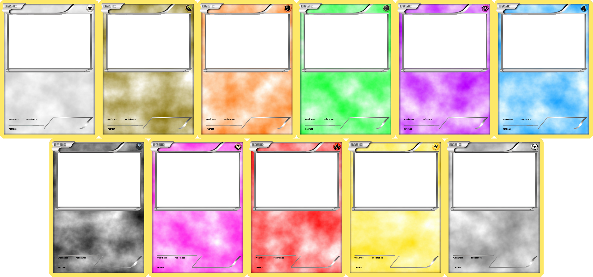 Blank Game Card Template Awesome Pokemon Blank Card Templates Basic by Levelinfinitum On