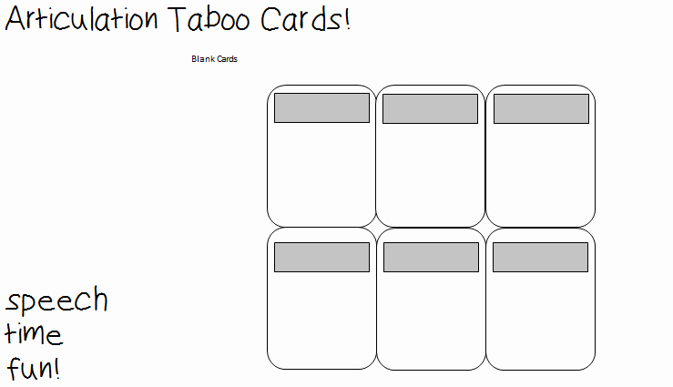 Blank Game Card Template Lovely iPod touch and iPhone Template Articulation Taboo Cards