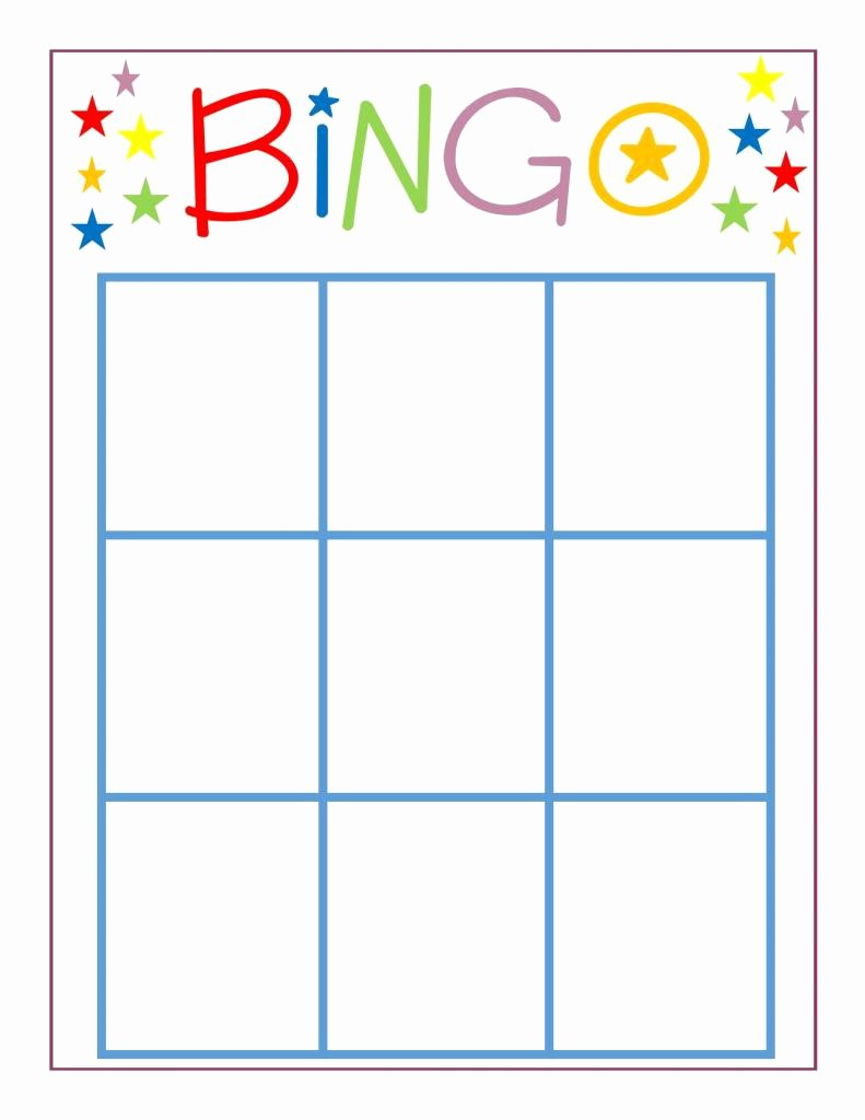 Blank Game Card Template New Family Game Night Bingo