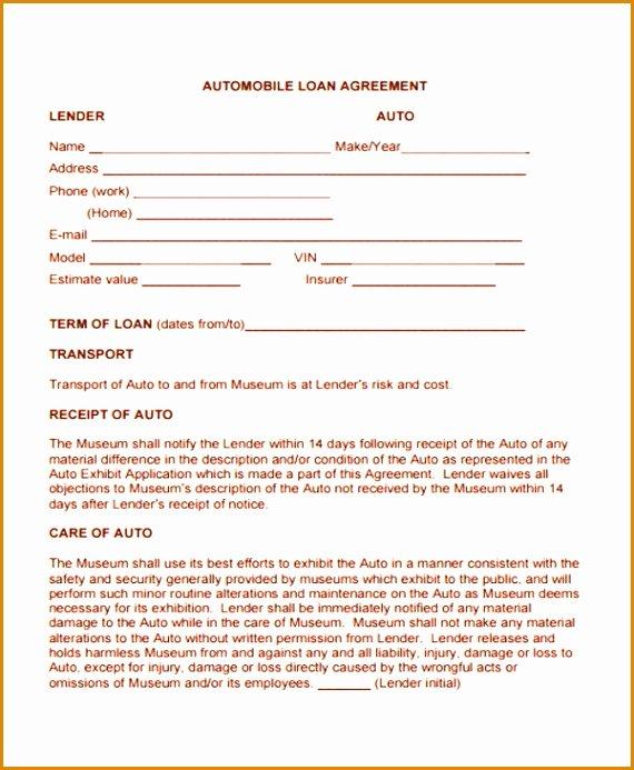 Blank Loan Agreement Best Of 8 Blank Loan Agreement Template Besttemplates