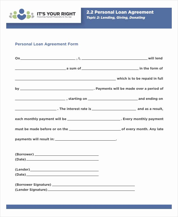 Blank Loan Agreement Unique 35 Loan Agreement forms In Pdf