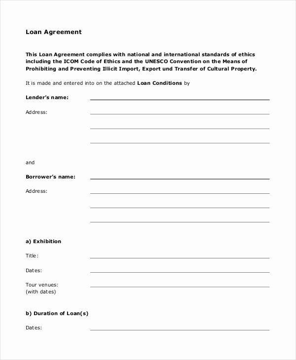 Blank Loan Agreement Unique Loan Agreement form 14 Free Pdf Documents Download