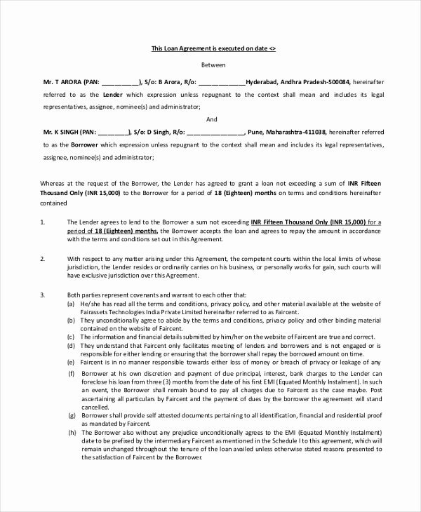 Blank Loan Contract Best Of 29 Of Blank Personal Loan Repayment Template