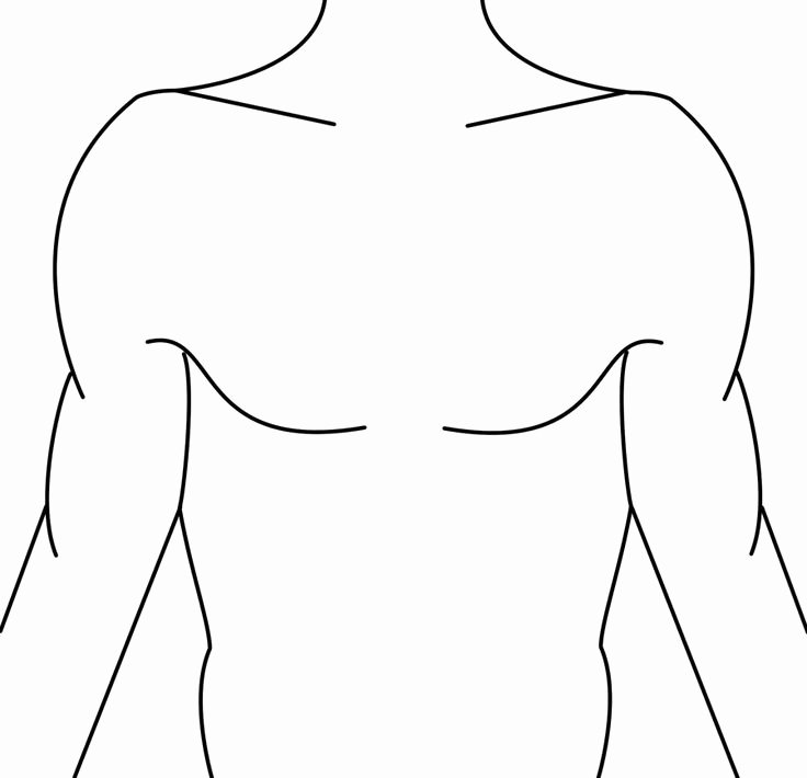 Blank Male Body Template Elegant Template Tattoo Ideas