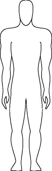 Blank Male Body Template Fresh Human Figure Outline Clip Art at Clker Vector Clip