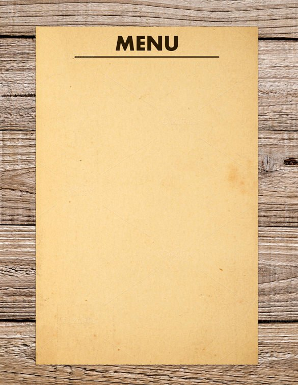 Blank Menu Template Awesome 37 Blank Menu Templates Pdf Ai Psd Docs Pages