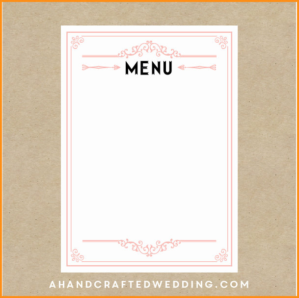 Blank Menu Template Beautiful 16 Of Apple Menu Template