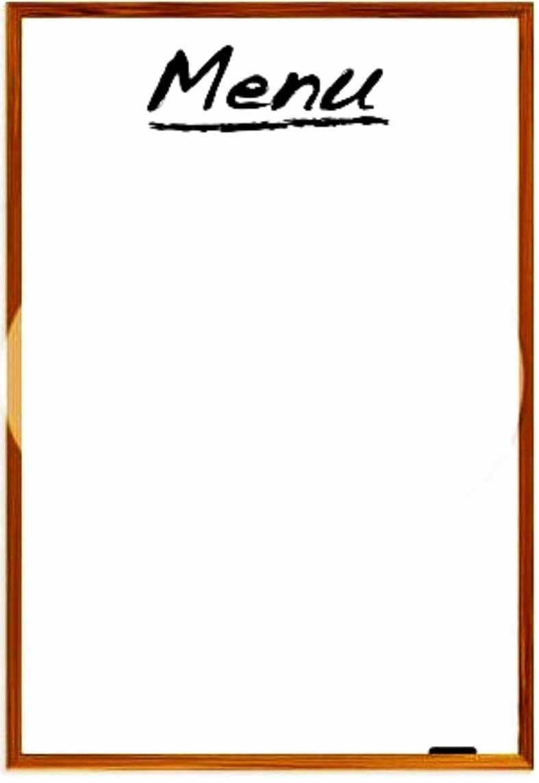 Blank Menu Template Fresh Restaurant Menus Blank Clipart Best