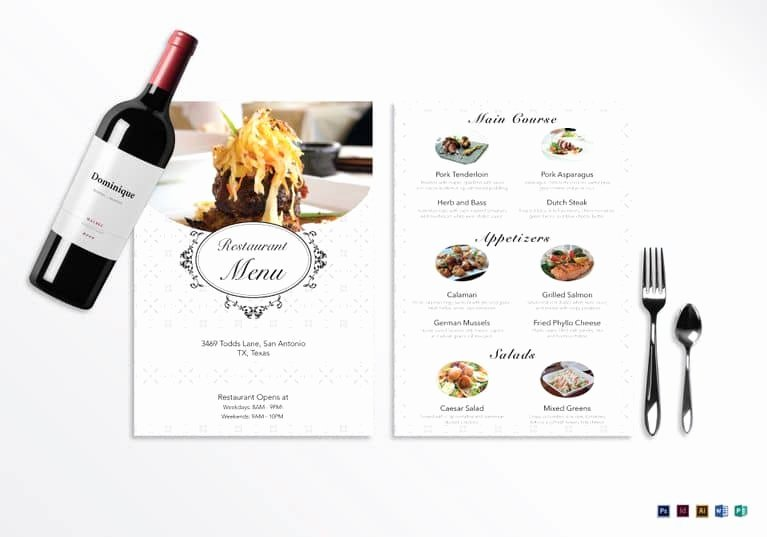 Blank Menu Template Unique 35 Beautiful Restaurant Menu Designs