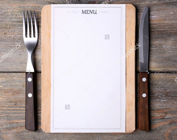 Blank Menu Template Unique 37 Blank Menu Templates Pdf Ai Psd Docs Pages