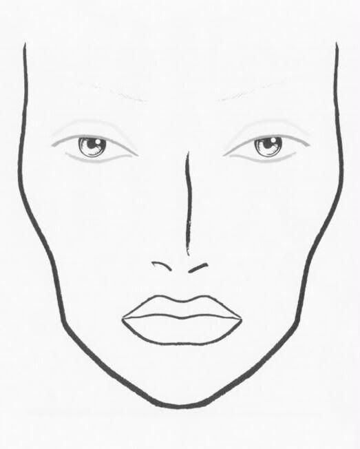 Blank Model Sketch Template Best Of 1000 Images About Face Charts On Pinterest