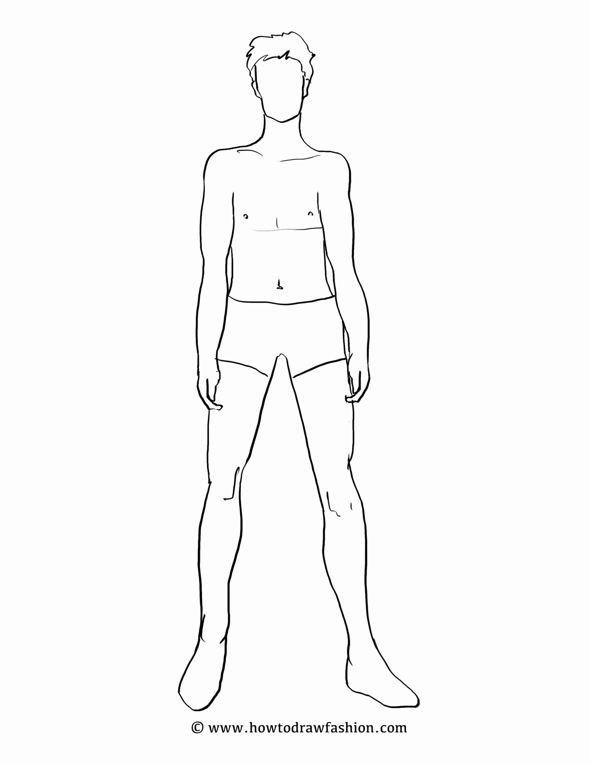 Blank Model Sketch Template Best Of How to Draw Fashion Fashion Templates Men