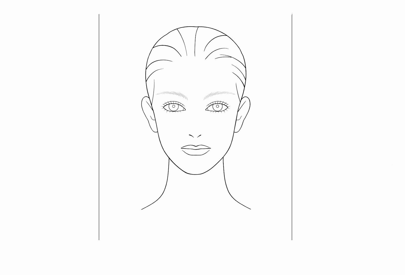 Blank Model Sketch Template Best Of Makeup Coloring Pages Girl Stuff Make Up Grig3