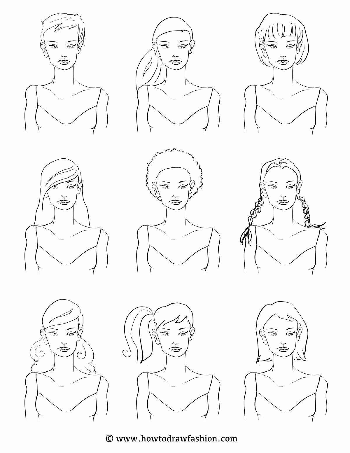 Blank Model Sketch Template Elegant How to Draw Fashion E Model Nine Styles