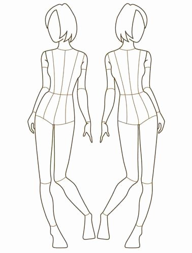 Blank Model Sketch Template Lovely 91 Best Images About Croquis for Fashion Design On