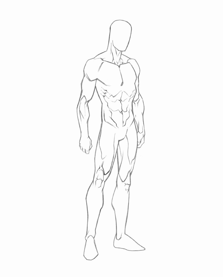 Blank Model Sketch Template New Male Drawing Template