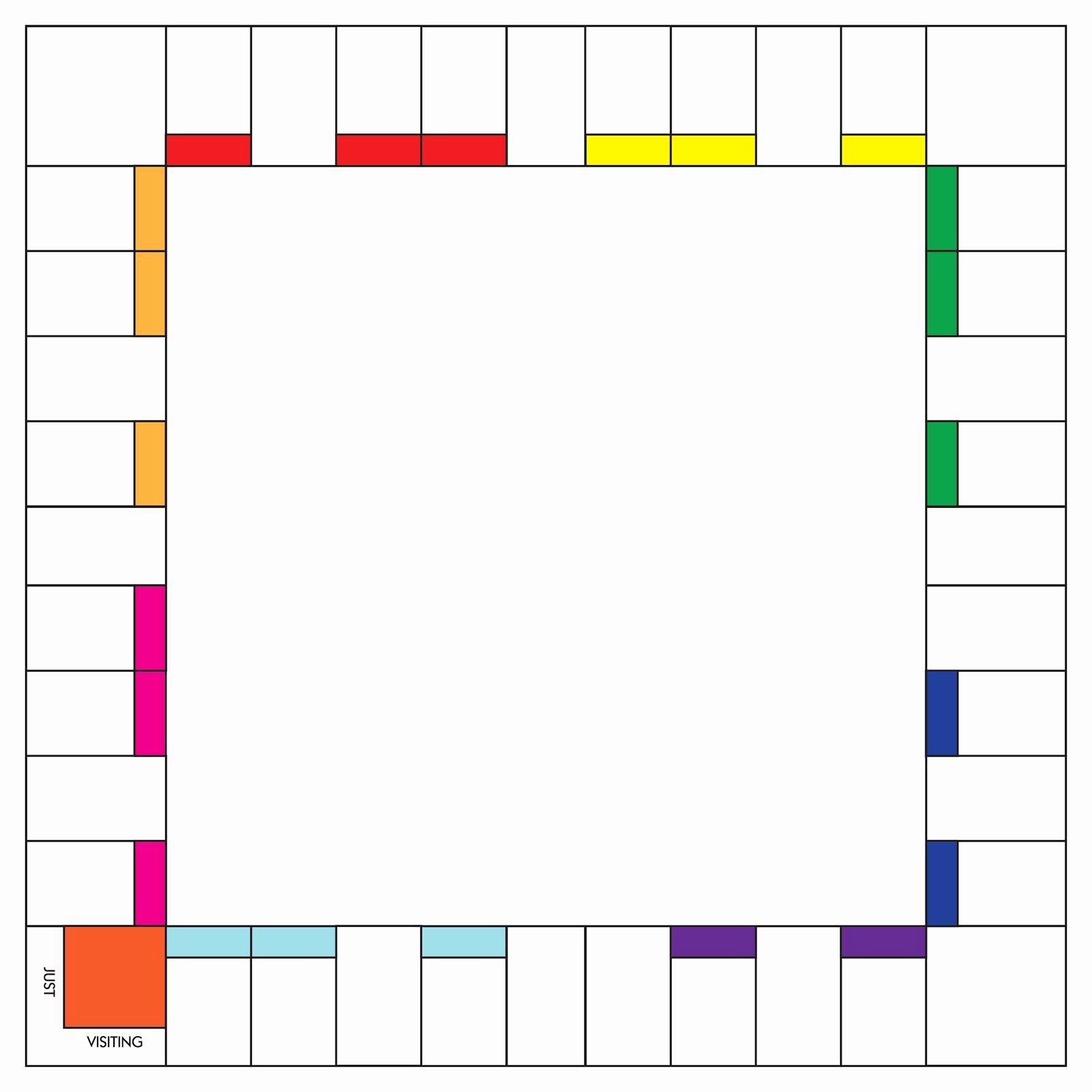 Blank Monopoly Board Unique Blank Monopoly Board Template Monopoly