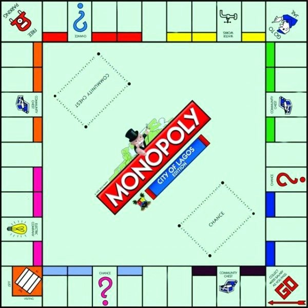 "Blank Monopoly Board Unique the ""city Lagos Edition Monopoly"" is Here Bestman"