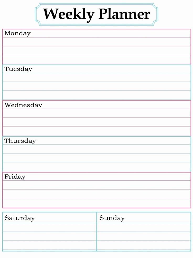 Blank One Week Calendar Fresh Blank Week Calendar Clipart Clipground