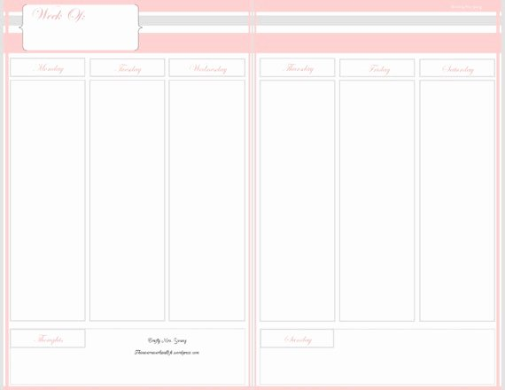 Blank One Week Calendar Fresh Etsy Your Place to and Sell All Things Handmade