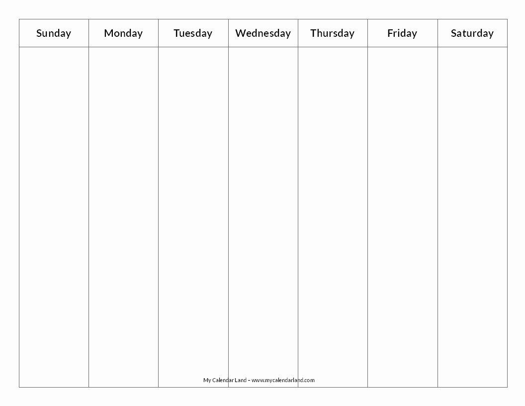 Blank One Week Calendar Inspirational Blank Calendar Printable My Calendar Land