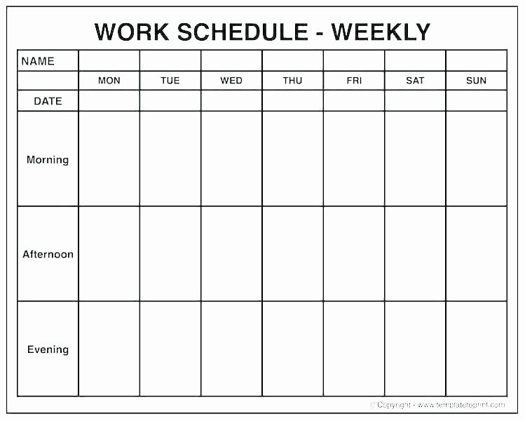 Blank One Week Calendar New Printable E Week Calendar