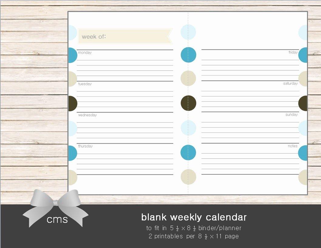 Blank One Week Calendar New Weekly Calendar Blank Week Sheets Printable by Chaosmadesimple