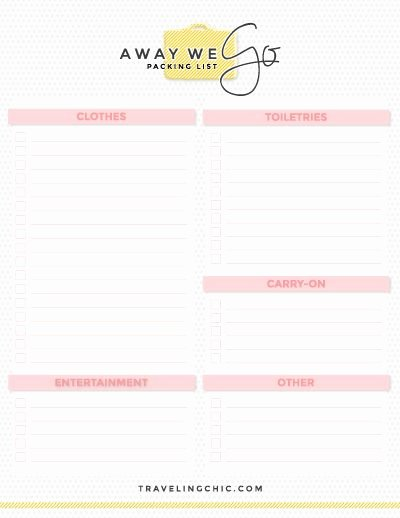 Blank Packing List New Free Packing Guides In 2019 What to Pack