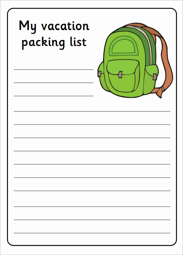 Blank Packing List Template Best Of 7 Packing List Templates