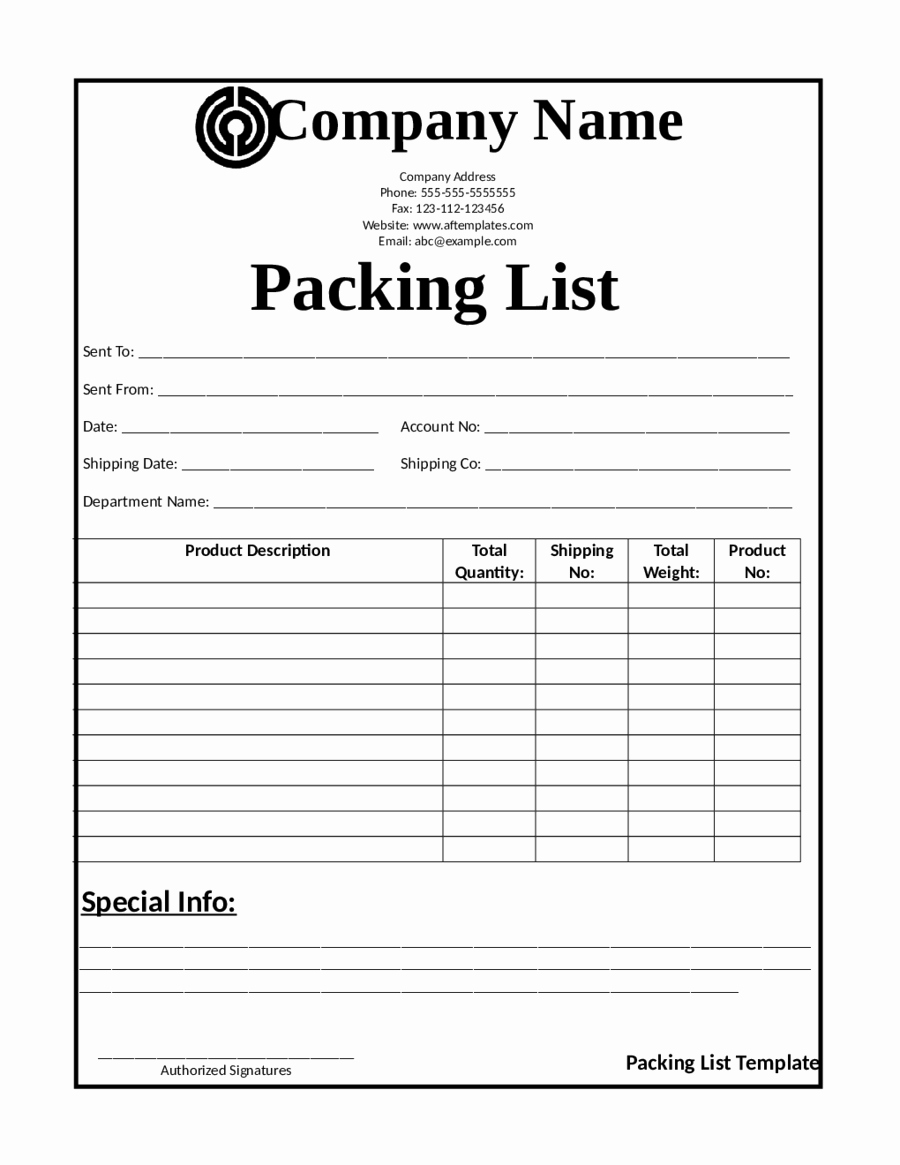 Blank Packing List Template Fresh 2019 Release Of Interest form Fillable Printable Pdf
