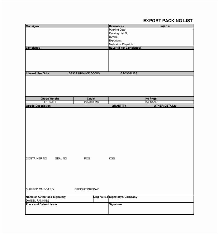 Blank Packing List Template New 24 Packing List Templates Pdf Doc Excel