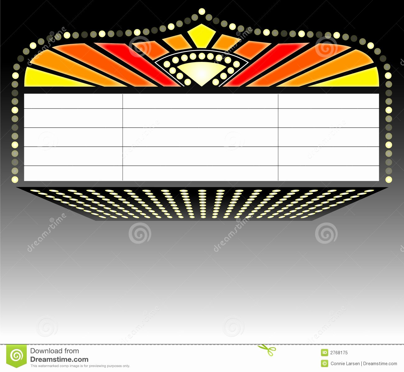 Blank Playbill Template Beautiful theater Marquee Sign Ai Stock Vector Illustration Of