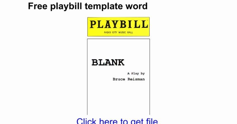 Blank Playbill Template Best Of Blank Playbill Template Free Playbill Template Word Google