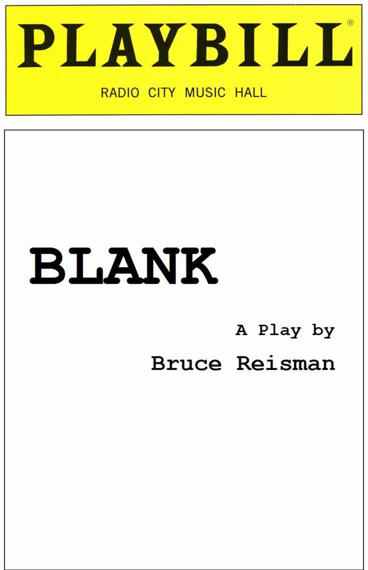 Blank Playbill Template Fresh Blank Playbill Cover Blank Playbill Template