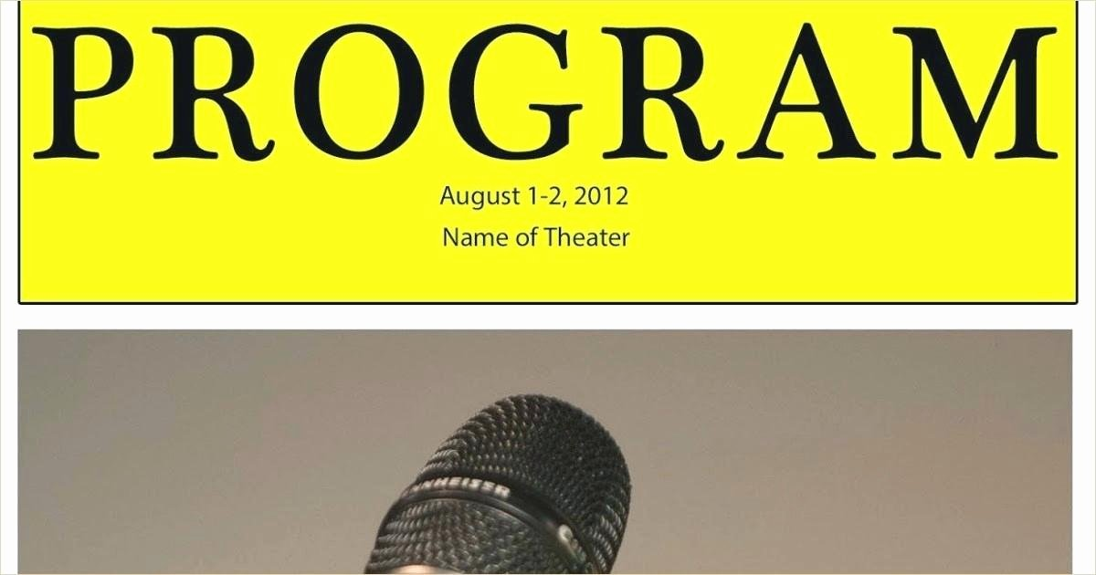 Blank Playbill Template New Playbill Template Printable Editable Free Download
