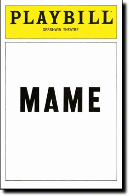 Blank Playbill Template Unique Mame Broadway Gershwin theatre Tickets and Discounts