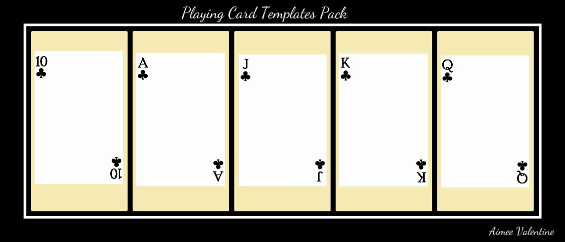 Blank Playing Card Template Best Of Best S Of Playing Card Templates for Word Playing