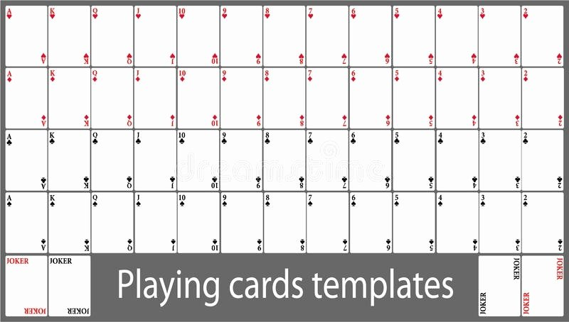 Blank Playing Card Template Inspirational Playing Cards Template – Emmamcintyrephotography