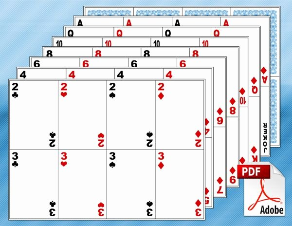 Blank Playing Card Template Lovely Free Printable Math Centers Classroom Math