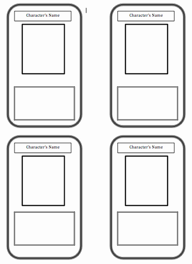 Blank Playing Card Template Unique Trading Card Template Beepmunk